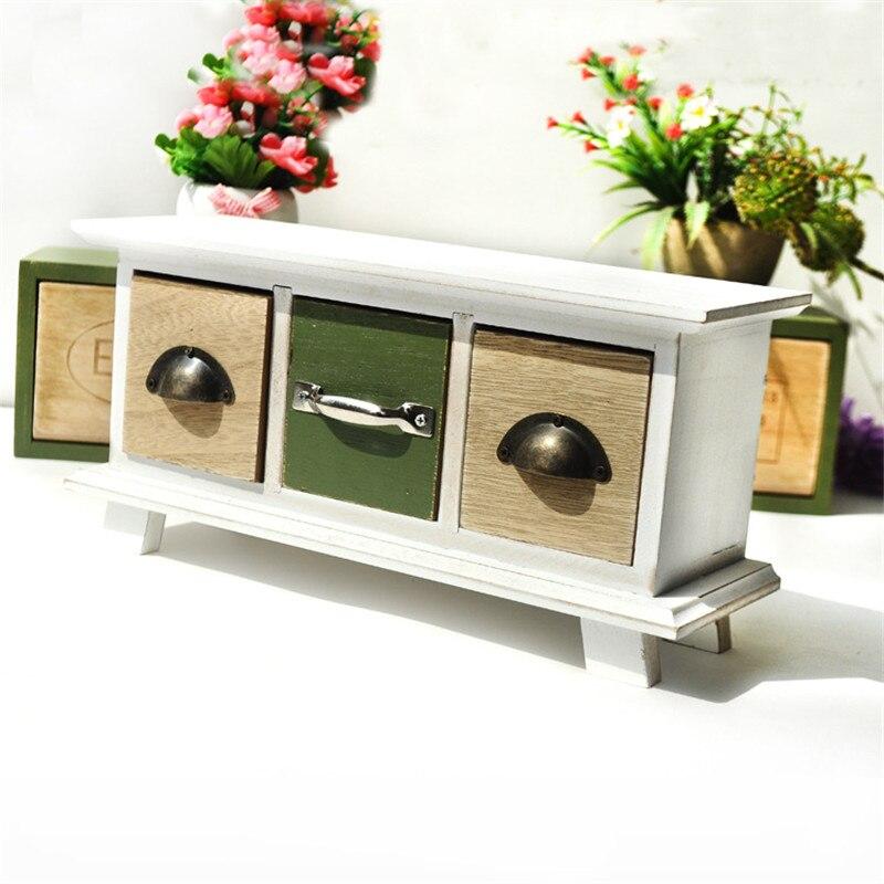 Vintage naturel en bois ZAKAKA Sytle boîte de rangement de bureau multifonction bijoux maquillage organisateur cosmétique divers stockage étagère
