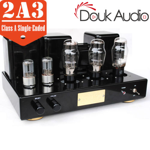 2A3 Vacuum Tube Integrated Amplifier Class A Single-Ended Power Amp Black & Red2A3 Vacuum Tube Integrated Amplifier Class A Single-Ended Power Amp Black & Red