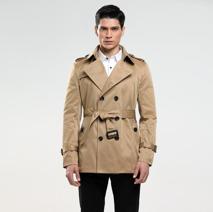 Lapel fashion Mens trench coats man long coat men clothes slim fit overcoat long sleeve 2018 new designer spring autumn thin