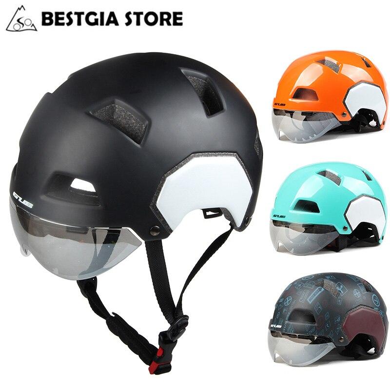 купить Gub Magnetic Goggles Bicycle Helmet for Men Women Cycling Helmet 2018 Mountain MTB Road Bike Helmet Sports Safety Casco Ciclismo по цене 2695.85 рублей