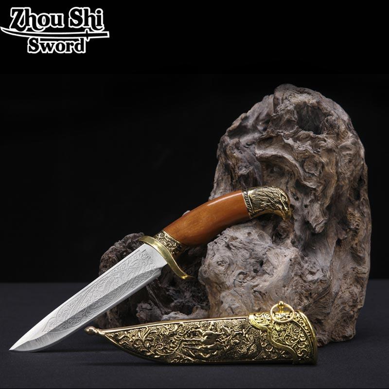 Classique dague maison décorée épée antique en métal épée poignées belle lame d'acier inoxydable épée Cosplay accessoires cadeaux