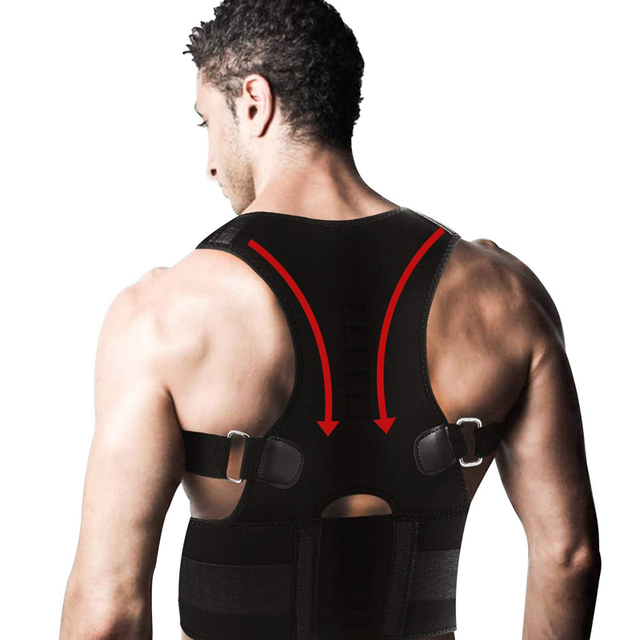 Adjustable Back Posture Corrector Magnetic Therapy Posture Corrector Brace Shoulder Back Brace Support Belt NO Slouching Beauty and Health Personal Care Appliance