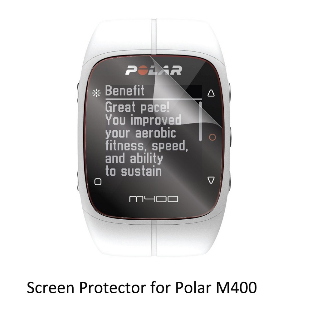 3* Clear LCD PET Film Anti-Scratch Screen Protector Cover for Smart Watch Computer Polar M400 polar m400 hr
