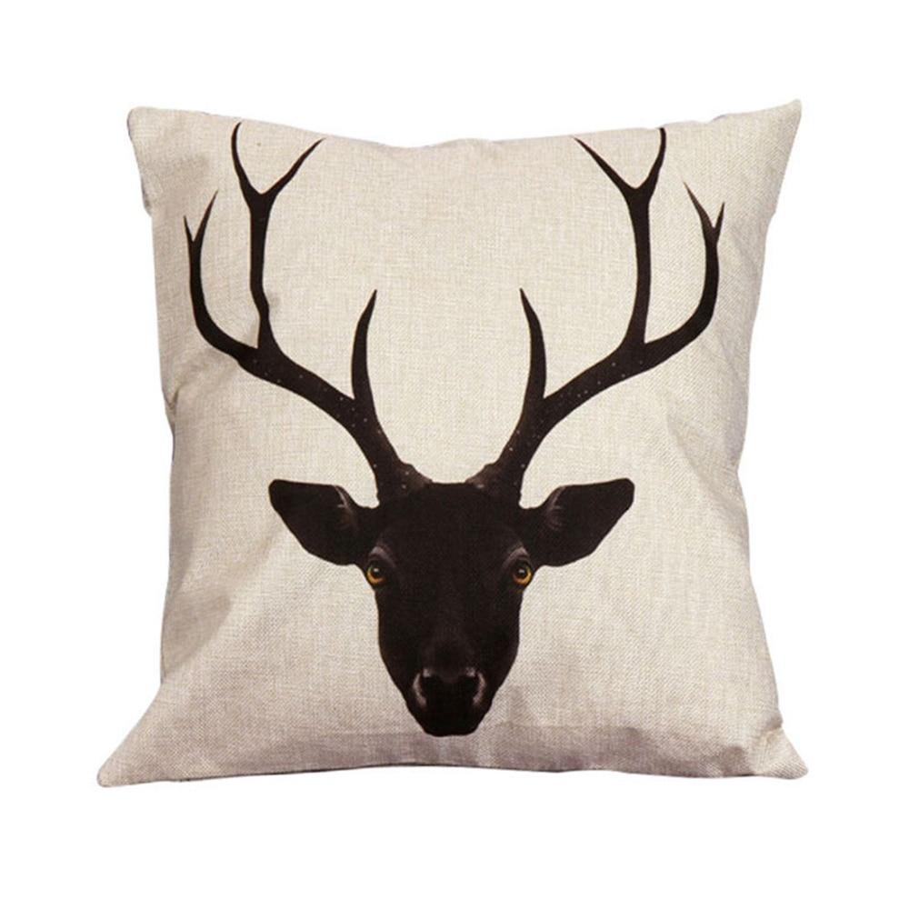 Vintage Cotton Owl Linen Pillow Case Waist Throw Covers Home Pillowcase Christmas Pillow Cover ...
