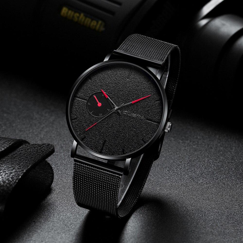 Fashion Mens Watches Top Brand Luxury Quartz Watch Men Casual Slim Mesh Steel Date Life Waterproof Sport Watch Relogio Masculino