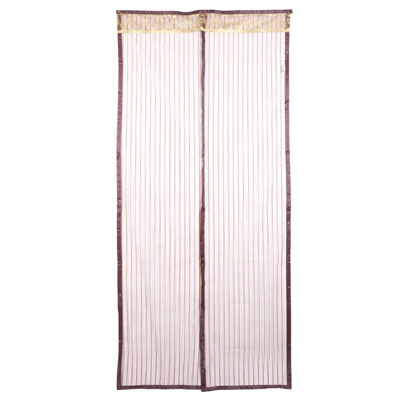 Home Mesh Curtain Anti Mosquito Magnetic Tulle Shower Curtain Automatic Closing Door Screen Summer Style Mesh Net