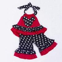 YK & Loving Retail Jarretel Baby Meisje Kleding Stip Vest Shirt + Ruches Lange Broek Kinderen Outfit Baby Broek Set Verjaardag