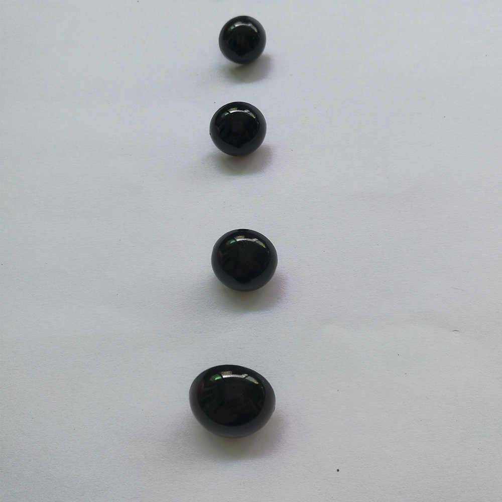 100 шт. Пластик круглые кнопки без каблука черные глаза Пластик глаза для кукол решений игрушки Teddy Bear куклы глаза куколка амигуруми аксессуары