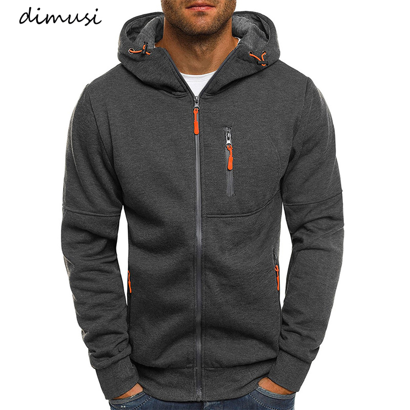 DIMUSI Mens Hoodies Casual Hooded Coat Spring Autumn Sportswear Male Cardigan Sweatshirt Mens Hip Hop Coats Brand Clothing,YA825