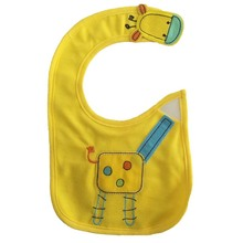 Baby's Patchwork Style Cartoon Bib