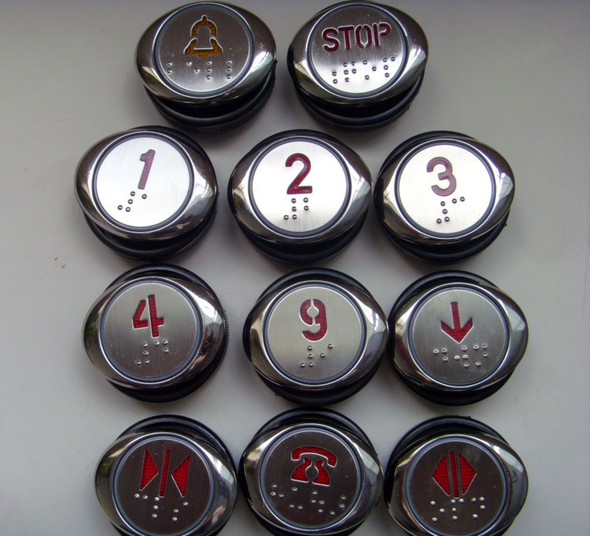 Elevator Push Button/push Button Zl-26b Electronic Accessories & Supplies