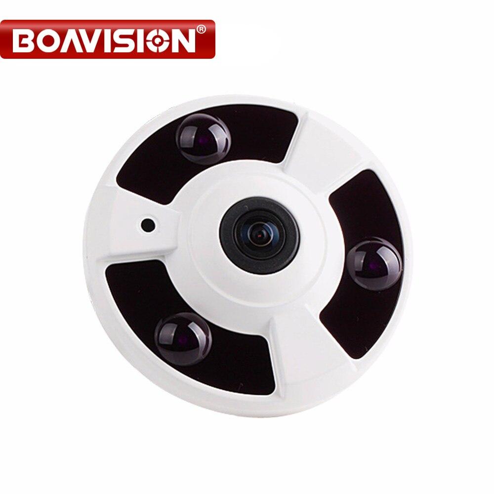 1080 P Telecamera ip (POE) Onvif Fisheye Panorama 5MP Lens IR Visione notturna HD Sicurezza CCTV Fotocamera 2MP 360 Gradi View P2P XMEye