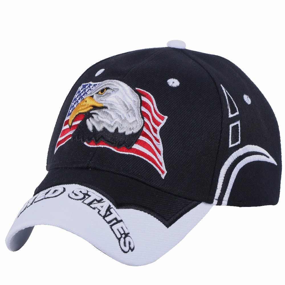 afca90b9dbe women men novelty Eagle hip hop snapback cap hat embroidery usa flag  pattern outdoor sports baseball