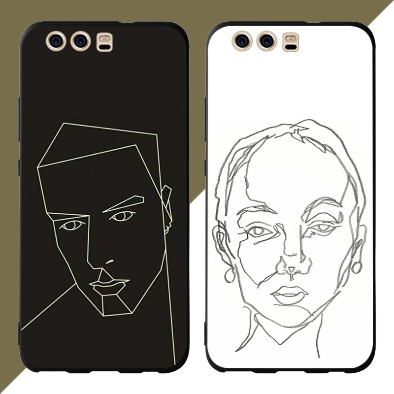 Abstract painting Phone Cases Cover for Huawei P30 lite pro nova 3i Mate 20 Case P smart 2019 Soft