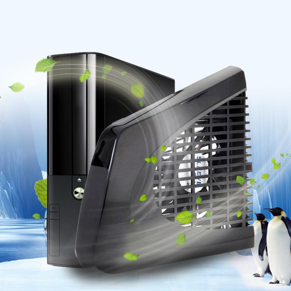 Nuevo USB negro ventilador de refrigeración lateral para reducir la temperatura para Xbox 360 consola para Xbox 360 Slim consola