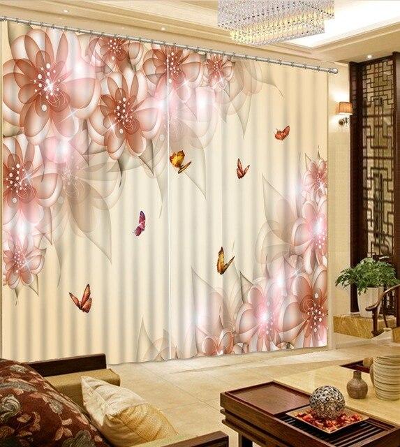 Beau Rideau Occultant 3d Pour Salon Elegant Nouveau Reve Rose Fleur