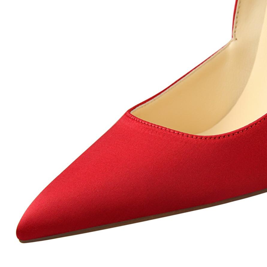Rojo Mujer Las Con La Bombas Negro Boda rojo {d Fiesta Puntiagudo Para Tacones Zapatos Dedo Henlu} Alto De Tacón Mujeres champagne amp; gris verde vnOSExwqz