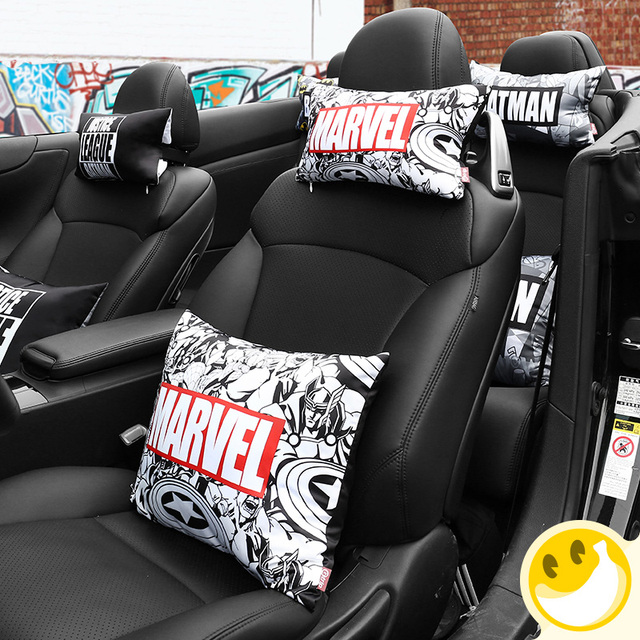 Car Headrest Neck For Marvel Auto Protection Rest Cushion Memory Cotton Accessories