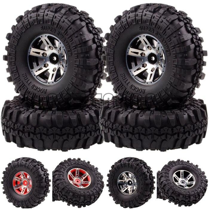 1059-7035 RC 4x 1.9  Metal Rock Crawler Wheel/Rim & Tyre 1/10 D90 SCX10 K949