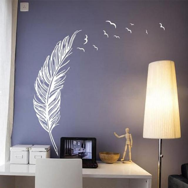 Feather Fly Right Removable Wall Stickers Handmade Wall Art Decal Home Decor for Christmas Gift Holiday & Feather Fly Right Removable Wall Stickers Handmade Wall Art Decal ...