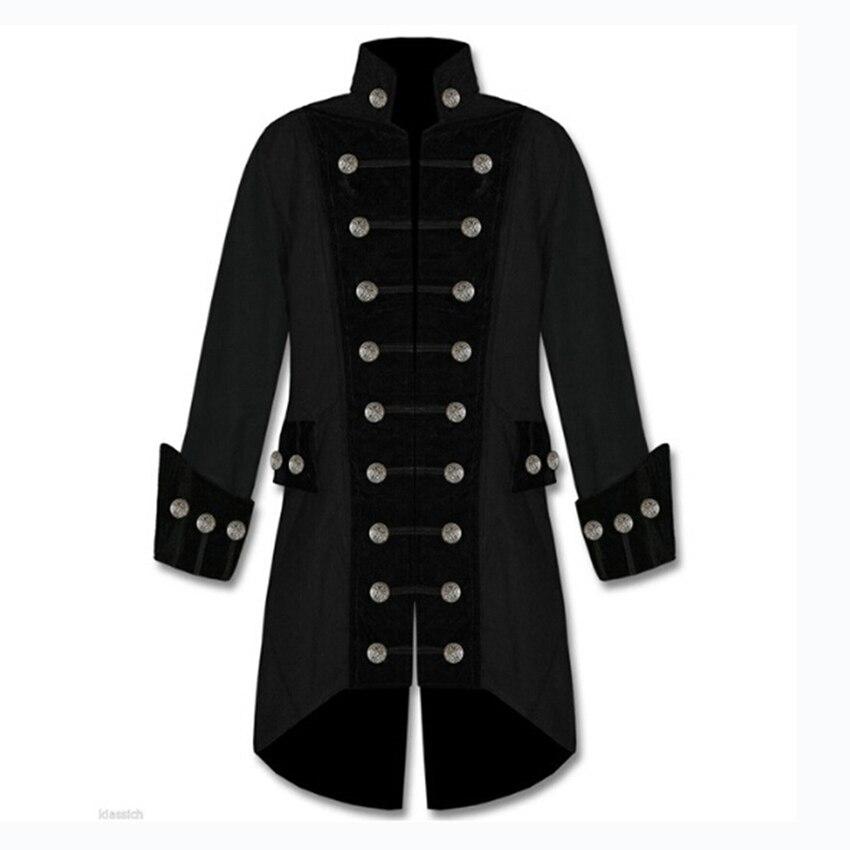 Cosplay médiéval hommes rétro Punk veste Costume victorien Renaissance gothique Pirates Steampunk manteau Costume mâle rétro vêtements