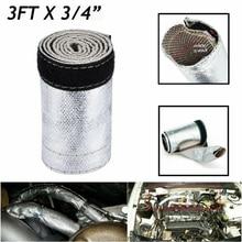 2000° 91.5cm Metallic Heat Shield Sleeve Spark Plug Wire Protector Insulation 3Ft