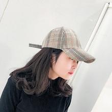 Hat female spring summer retro fashion plaid personality baseball cap leisure wild couple sun visor