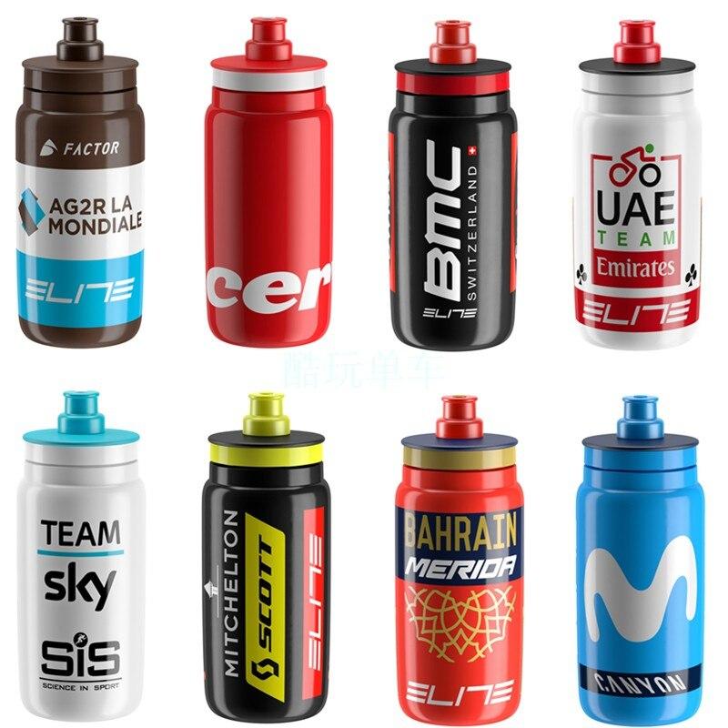 Botella de agua ultraligera para bicicleta Elite Team Edition, hervidor deportivo para bicicleta de montaña, bicicleta de carretera, botella de carreras de 550ML