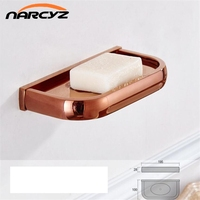 Soap Dishes Solid Brass Wall Mounted Soap Dish Holder For Bathroom Storage Bathroom Accessories Black Soap Box 9119K