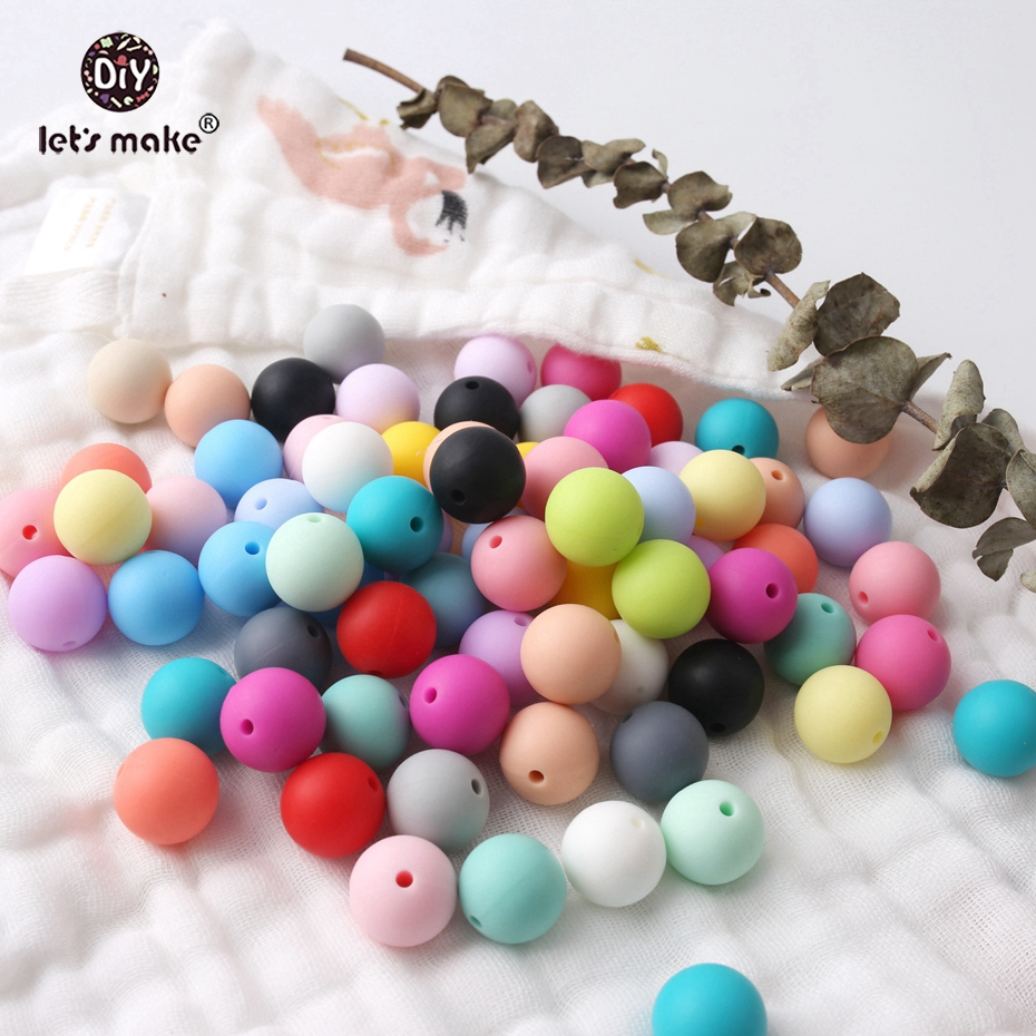 Let's make Silicone Beads Bulk Lot. Food Grade Teething Nursing Chewing Round beads. 12mm Bulk Lot of 100 Loose Silicone Beads стоимость