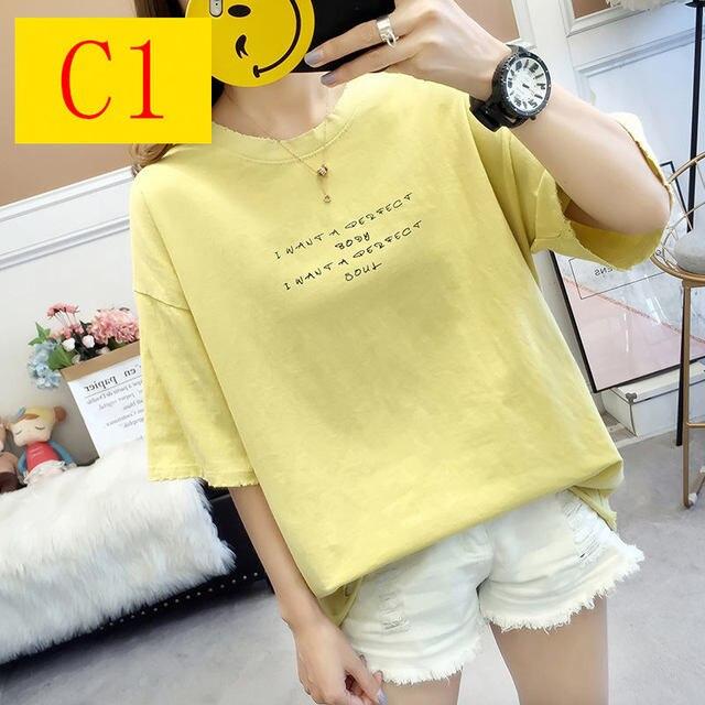 Color T Shirt Cotton Short...