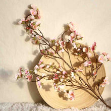 Artificial Cherry Peach Blossom Fake Silk Flower Home Wedding Party Floral Decor(China)