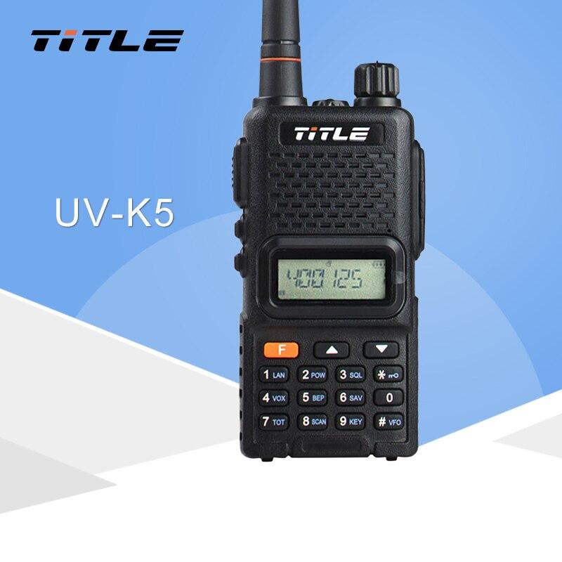 (1 PCS)Black KSUN Protable Radio UV-K5 Dual Band UHF 400-520MHZ FM RADIO Two Way Radio Walkie Talkie