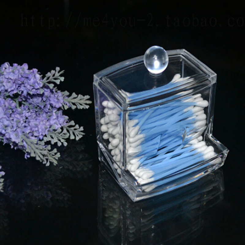 New Transparent Nail Storage Case Makeup Pen Brushes Makeup Paper Wipe Acrylic Storage Box Container Manicure Nail Desktop Tool