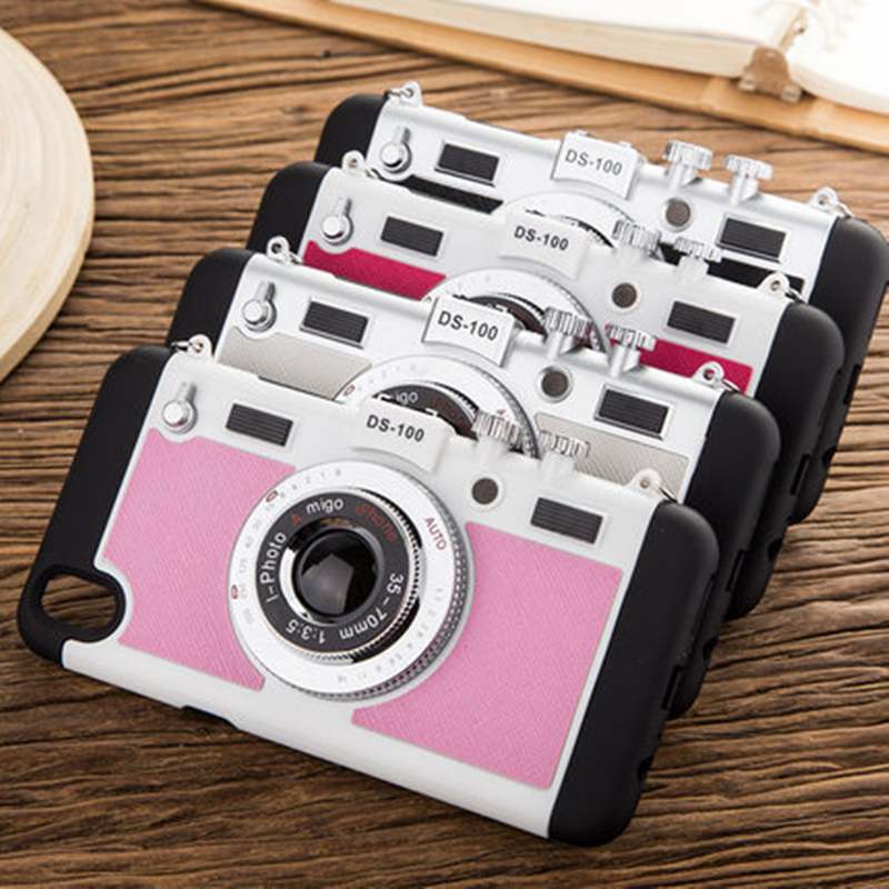 cheaper 9f39a b43b0 US $8.8 |2017 NEW Luxury Korean Style Cool 3D Vintage Camera Design Phone  Case For Apple iPhone 6 6s/6Plus/6s Plus Back Cover Fudas Capa-in Fitted ...