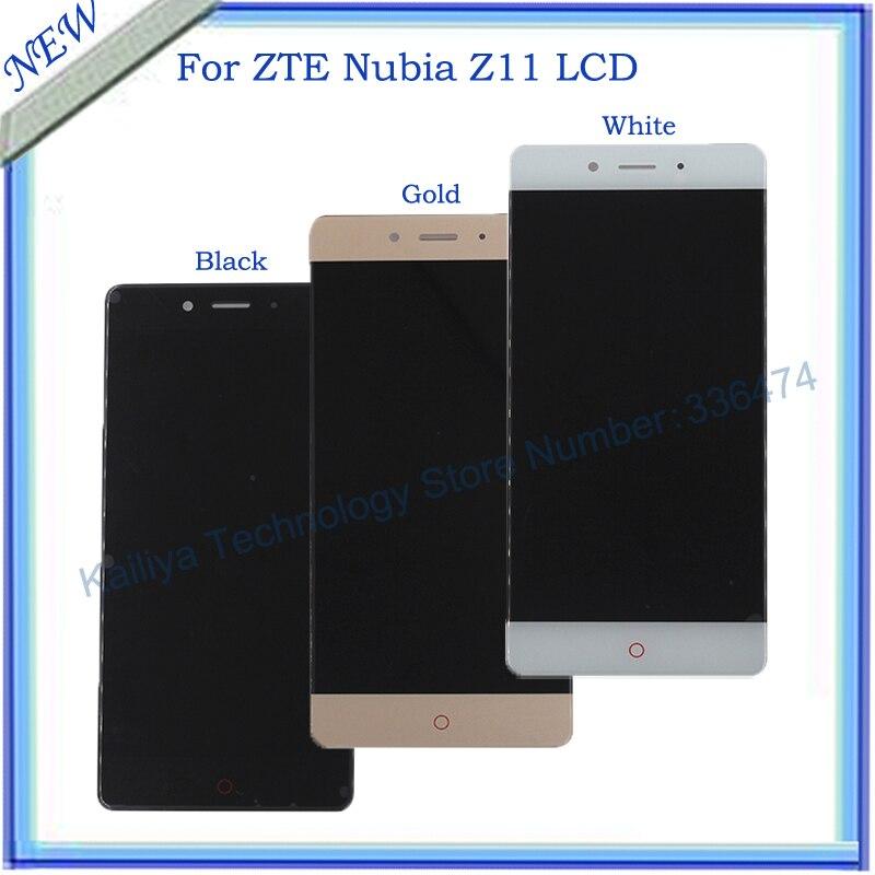 Pantalla lcd para zte nubia z11 + 5.5 pulgadas de pantalla táctil el montaje del