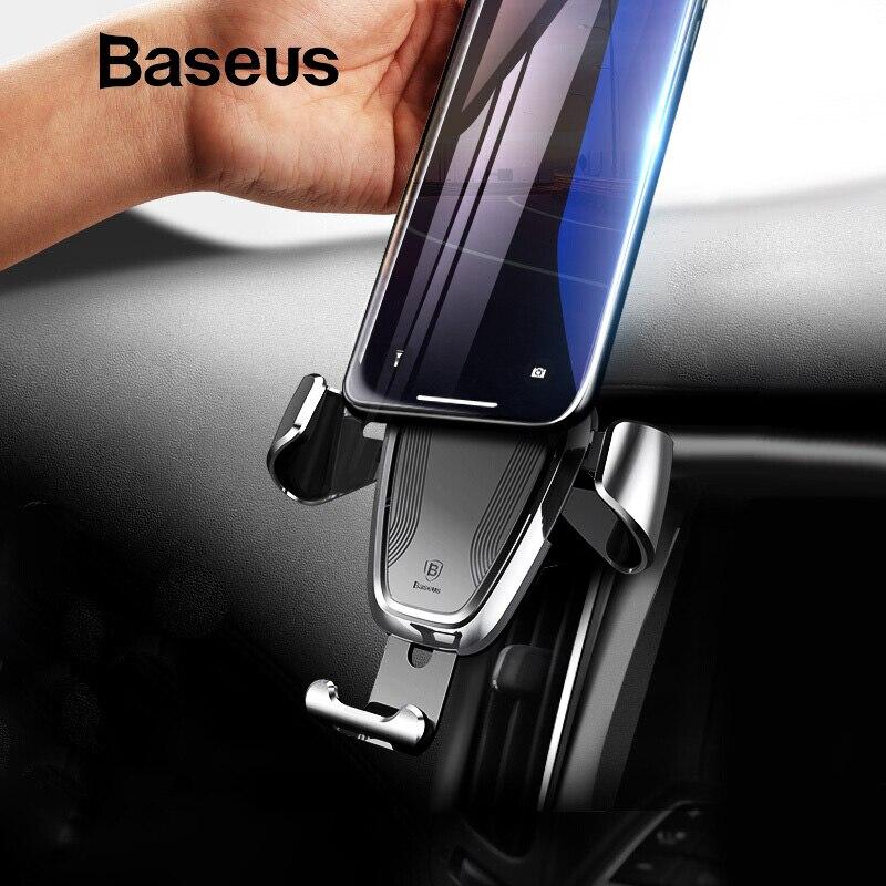 Baseus Schwerkraft Auto Halter Für iPhone Samsung Zelle Handy Halter 360 Grad GPS Air Vent Halterung Clip Auto Telefon halter Stehen