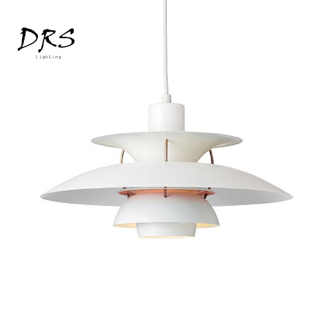 Danish Nordic Aluminum Chandelier Lighting Modern Living Room Bedroom Study Hanging Lights Simple Restaurant Led Pendant Lamp