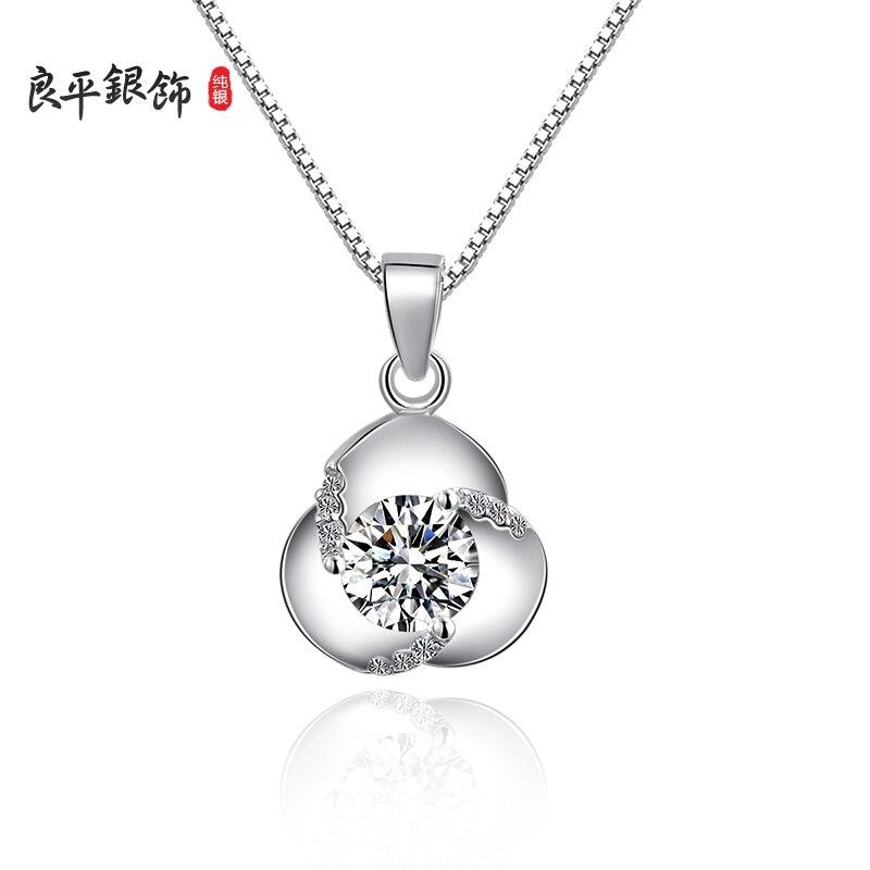 Nouveau collier en argent sterling 925 pour femmes, collier pendentif zicon de qualité supérieure cadeau d'anniversaire