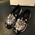 Новый Стиль Моды Сетки Bling Блестки Цветы Плоские Туфли Удобная Slip-на Женщин Мокасины Горячие Продаж
