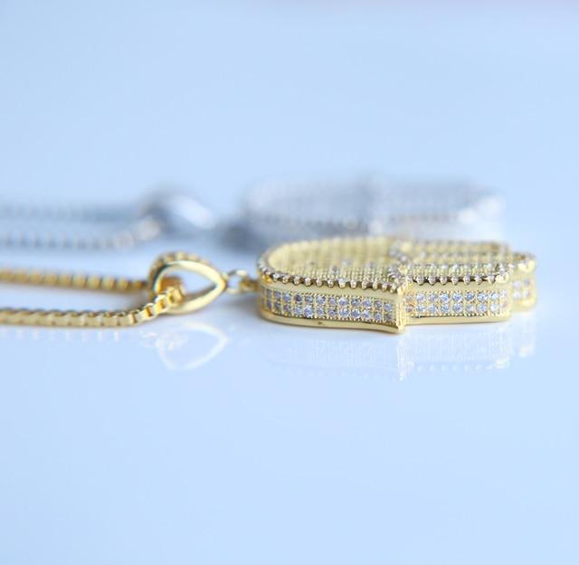 Hamsa Hand CZ Chain Necklace 10