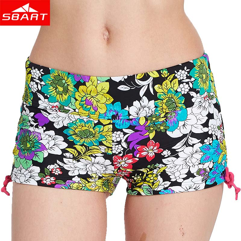SBART Women Swimsuit Shorts Sexy Briefs Bathing Swimwear Bottom Underwear Female Swimming Trunks Boxer Fitness Beach Shorts L