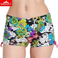 SBART Women Swimsuit Shorts Sexy Briefs Bathing Swimwear Bottom Underwear Female Swimming Trunks Boxer Fitness Beach Shorts L