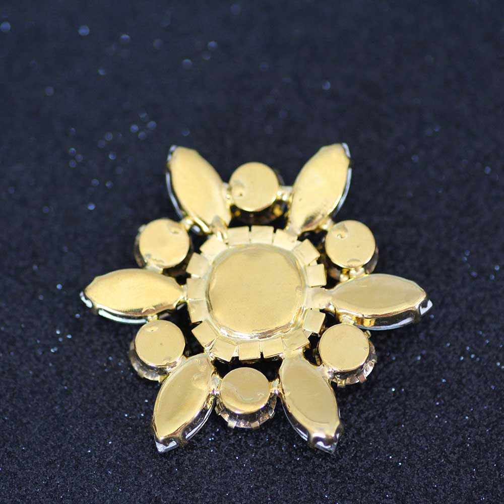 282c254fa3 Flower Shape crystal Sew On Rhinestone With Claw Setting Gold Back Fancy  Stone Rhinestone applique Buttons For Wedding Dress