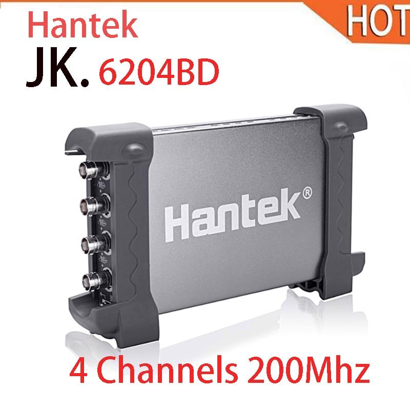 2018 HOT Hantek 6204BD Digital Oscilloscope 4 Channels 200Mhz Handheld USB , PC Osciloscopio + 25Mhz Signal Generator hantek pp 200 digital oscilloscope probe 200mhz bandwidth x1 x10 for automotive usb pc osciloscopio portatil diagnostic tool