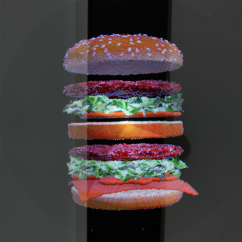 3d holograma publicidade display led fã imagem