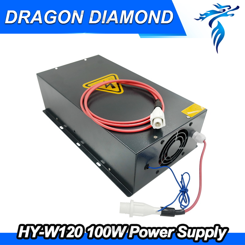 100W CO2 Laser Power Supply for CO2 Laser Engraving Cutting Machine HY-W120 high voltage flyback transformer hy a 2 use for co2 laser power supply