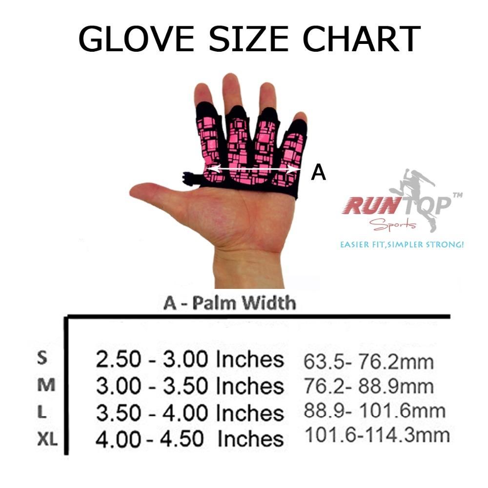 RUNTOP Silicone Crossfit Glove Women Workout Fitness GYM Exercise