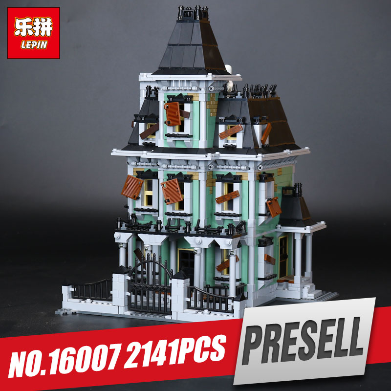 LEPIN 16007 2141Pcs Monster fighter The haunted house Model set Educational Building Kits Model Compatible With Legom 10228 toy 2141pcs the haunted house model set building kits block toy 16007 diy monster fighter educational blocks toys for children