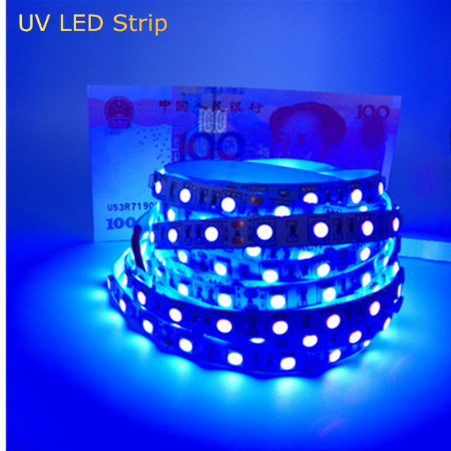 Uv rays led strip light 5050 smd non waterproof led tape uv rays led strip light 5050 smd non waterproof led tape ultraviolet light money test mozeypictures Images